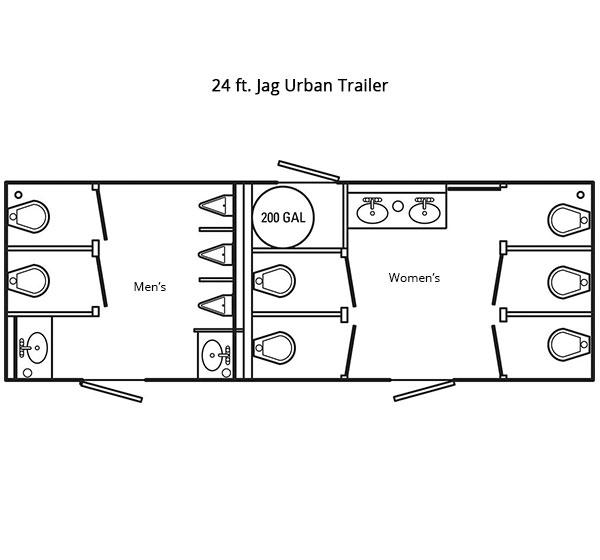 24 ft Jag Urban Trailer